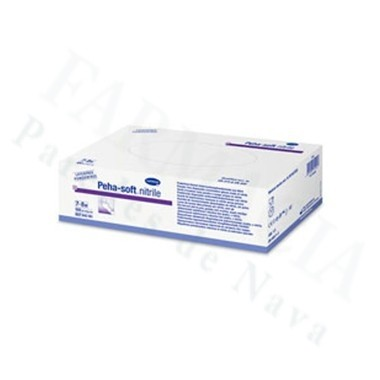 GUANTES DESECHABLES DE NITRILO PEHA-SOFT NITRILE WHITE T- L 100 U