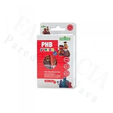 PHB JUNIOR PACK RECAMBIO 3X15ML PASTA DENTIFRICA