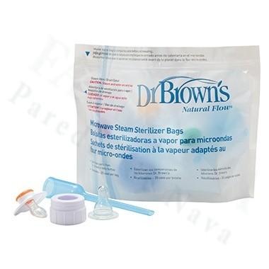 BOLSA ESTERILIZACION A VAPOR MICROONDAS DR BROWN´S NATURAL FLOW 5 U