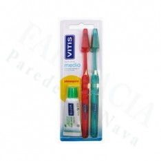 CEPILLO DENTAL ADULTO VITIS MEDIO PACK