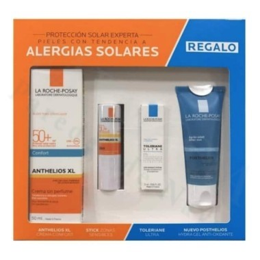 ANTHELIOS PACK ALERGIAS SOLARES CREMA SIN PERFUME 50ML + STICK