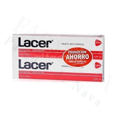 LACER PASTA DENTAL DUPLO 2*125 ML