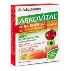 ARKOVITAL PURA ENERGIA COMPLEX CON GUARANA Y GINSENG 30 COMP