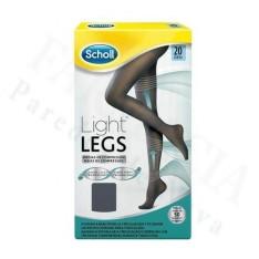 MEDIAS E.T. CINT COMP LIGERA 20 DEN SCHOLL LIGHT LEGS NEGRO T - XL