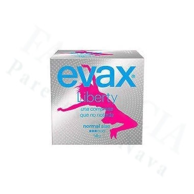 COMPRESAS TOCOLOGICAS EVAX LIBERTY NORMAL CON ALAS 14 COMPRESAS