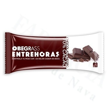 OBEGRASS ENTREHORAS BARRITACHOCOLATE NEGRO 30 G